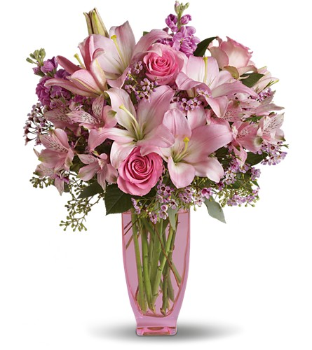 Teleflora's Pink Pink Bouquet with Pink Roses in Reading PA, Heck Bros Florist