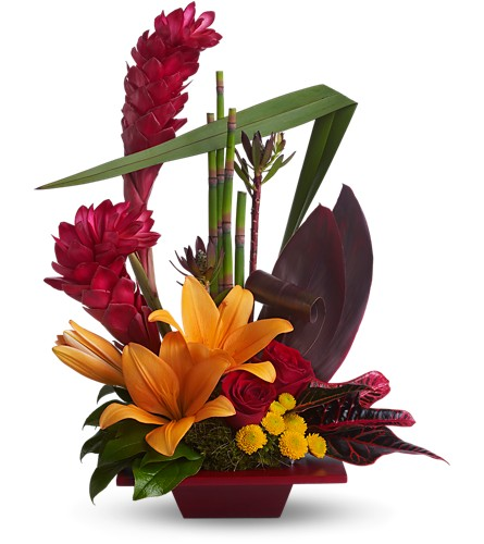 Teleflora's Tropical Bliss in Renton WA, Cugini Florists