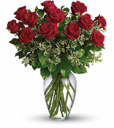 Always on My Mind - Long Stemmed Red Roses in Fontana CA, Mullens Flowers