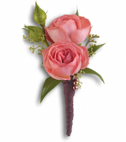 Rose Simplicity Boutonniere in Morgantown WV, Coombs Flowers