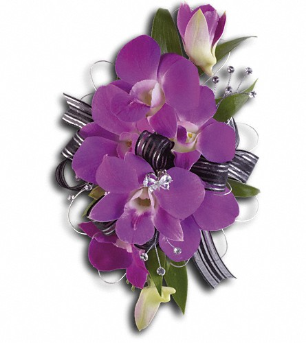 Purple Promise Wristlet in Tuckahoe NJ, Enchanting Florist & Gift Shop