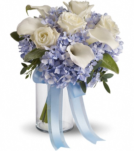 Love in Blue Bouquet in Reading PA, Heck Bros Florist