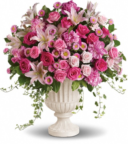 Passionate Pink Garden Arrangement in Muskegon MI, Wasserman's Flower Shop