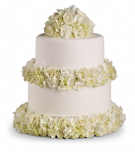 Sweet White Cake Decoration in Kokomo IN, Jefferson House Floral, Inc