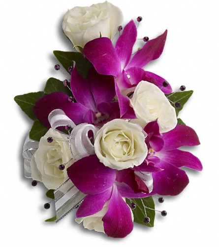 Fancy Orchids and Roses Wristlet in Oklahoma City OK, Capitol Hill Florist and Gifts