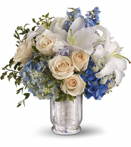 Teleflora's Seaside Centerpiece in Tiburon CA, Ark Angels Flowers