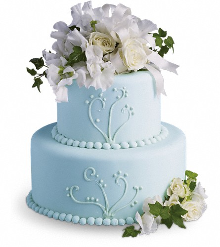 Sweet Pea and Roses Cake Decoration in Albany NY, Emil J. Nagengast Florist