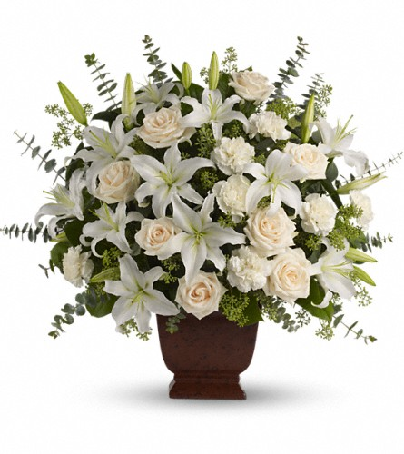 Teleflora's Loving Lilies and Roses Bouquet in Austin TX, Ali Bleu Flowers