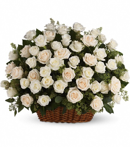 Bountiful Rose Basket in Naples FL, Gene's 5th Ave Florist
