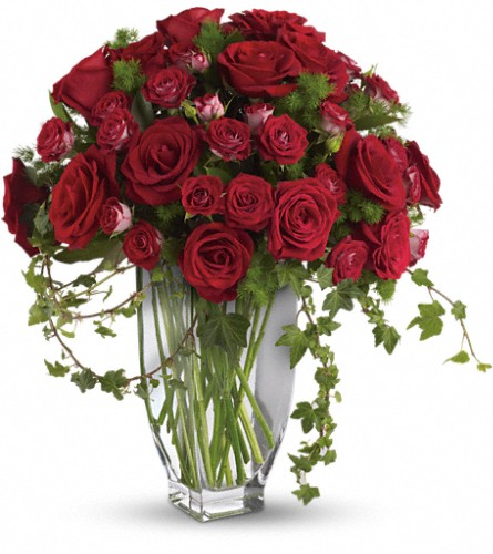Teleflora's Rose Romanesque Bouquet - Red Roses in Thornhill ON, Orchid Florist