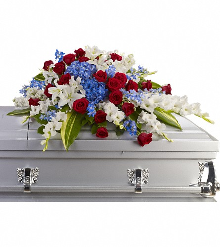 Distinguished Service Casket Spray in Muskegon MI, Wasserman's Flower Shop