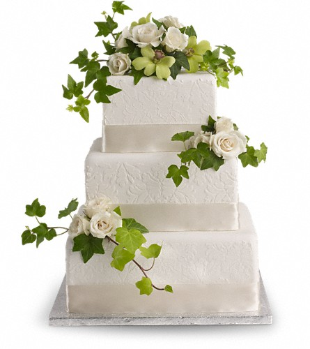 Roses and Ivy Cake Decoration in Albany NY, Emil J. Nagengast Florist