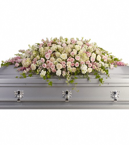 Always Adored Casket Spray in Kelowna BC, Burnetts Florist & Gifts