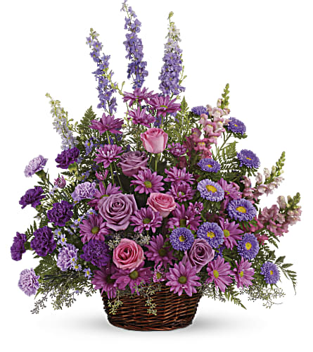 Gracious Lavender Basket in Westerly RI, Rosanna's Flowers