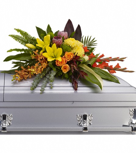 Island Memories Casket Spray in Manhattan KS, Westloop Floral