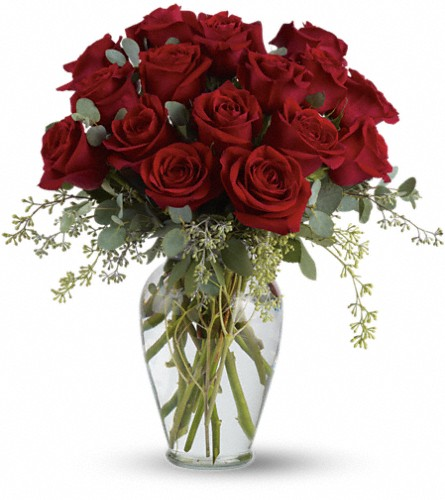 Full Heart - 16 Premium Red Roses in Lancaster PA, Petals With Style