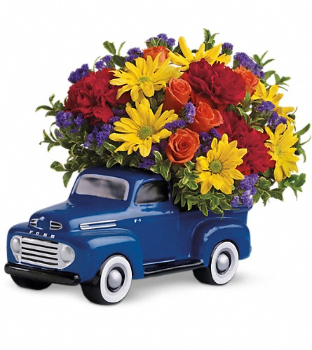 Teleflora's '48 Ford Pickup Bouquet in Tulsa OK, Ted & Debbie's Flower Garden