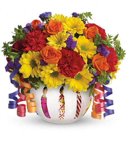 Teleflora's Brilliant Birthday Blooms in usa-send-flowers NJ, Stanley's America's Florist & Gifts
