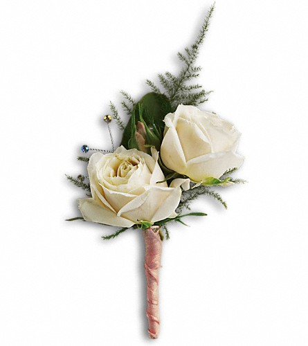 White Tie Boutonniere in Olean NY, Mandy's Flowers