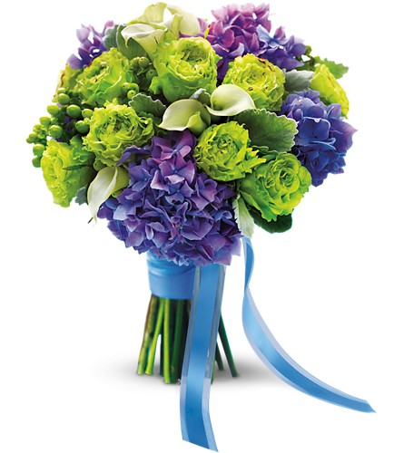 Luxe Lavender and Green Bouquet in Richmond BC, Touch of Flowers