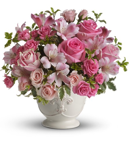 Teleflora's Pink Potpourri Bouquet with Roses in San Clemente CA, Beach City Florist
