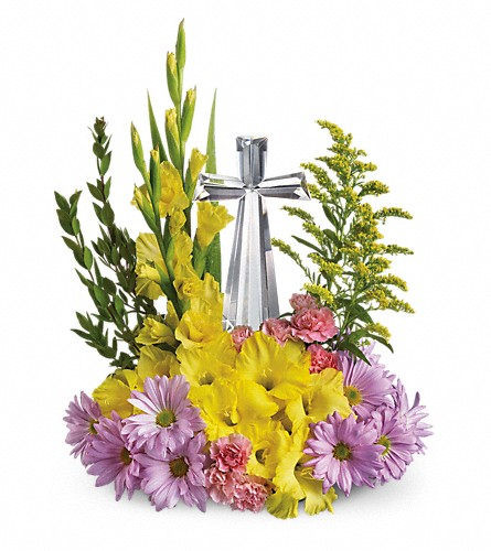 Teleflora's Crystal Cross Bouquet in Muskegon MI, Wasserman's Flower Shop