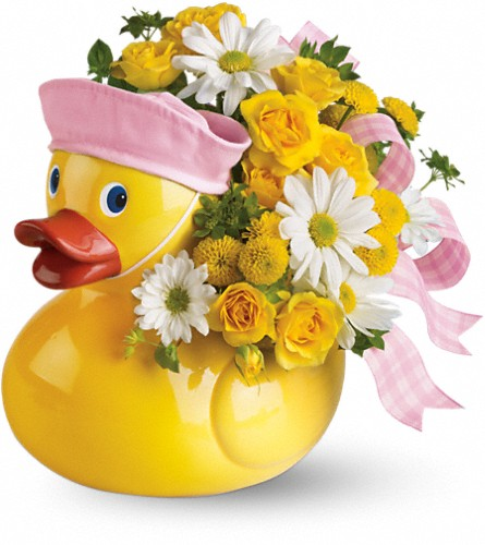 Teleflora's Ducky Delight - Girl in Middle Village NY, Creative Flower Shop