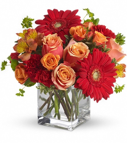 Santa Fe Sunset Bouquet by Teleflora in Orlando FL, Mel Johnson's Flower Shoppe