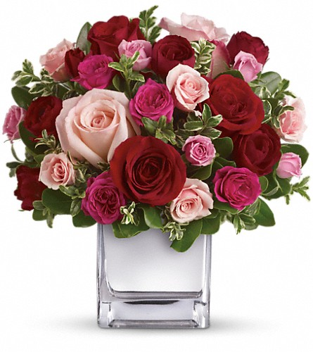 Teleflora's Love Medley Bouquet with Red Roses in Williston ND, Country Floral