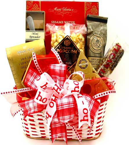 XGF138 ''Ho-Ho-Ho'' Christmas Gourmet Basket in Oklahoma City OK, Array of Flowers & Gifts