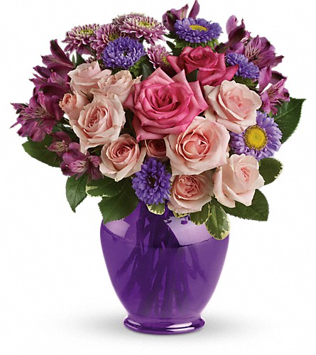 Teleflora's Purple Medley Bouquet with Roses in Oakville ON, Acorn Flower Shoppe