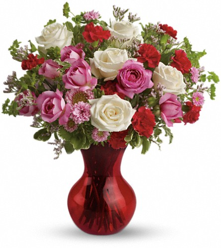 Teleflora's Splendid in Red Bouquet with Roses in DeKalb IL, Glidden Campus Florist & Greenhouse