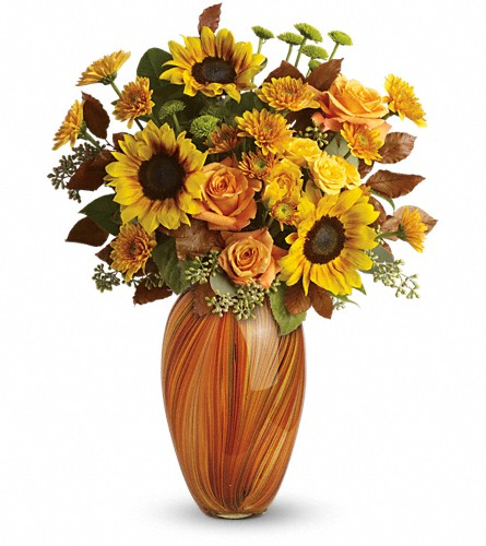 Teleflora's Golden Sunset Bouquet in Oklahoma City OK, Array of Flowers & Gifts