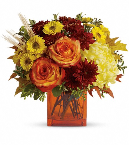 Teleflora's Autumn Expression in Amherst NY, The Trillium's Courtyard Florist