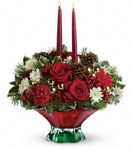 Teleflora's Always Merry Centerpiece in Oklahoma City OK, Array of Flowers & Gifts