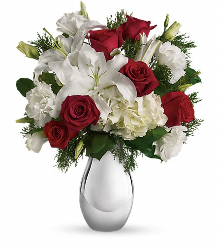 Teleflora's Silver Noel Bouquet in Farmington NM, Broadway Gifts & Flowers, LLC