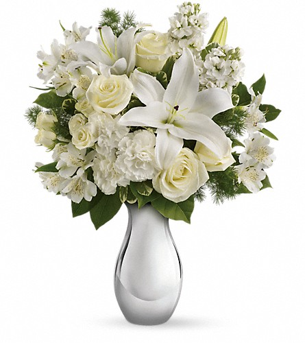 Teleflora's Shimmering White Bouquet in Decatur GA, Dream's Florist Designs