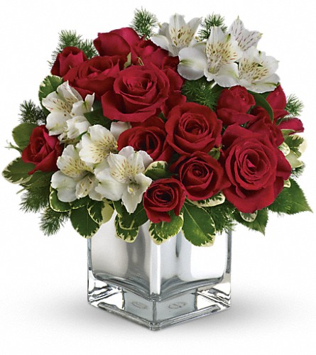 Teleflora's Christmas Blush Bouquet in Belford NJ, Flower Power Florist & Gifts