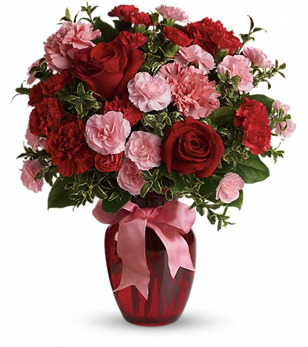 Dance with Me Bouquet with Red Roses in London ON, Daisy Flowers