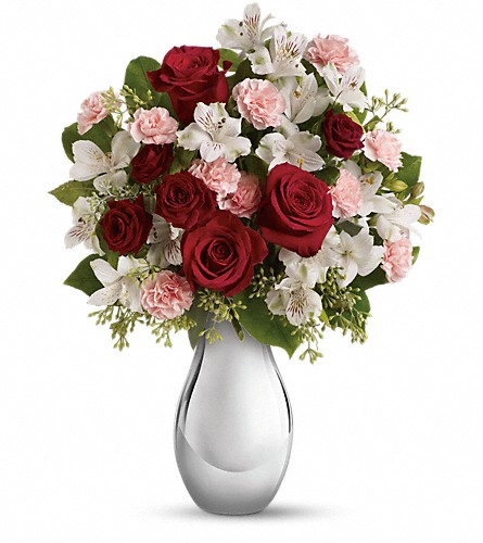 Teleflora's Crazy for You Bouquet with Red Roses in Olean NY, Mandy's Flowers