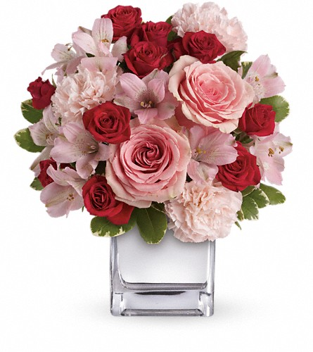 Teleflora's Love That Pink Bouquet with Roses in Jersey City NJ, Entenmann's Florist