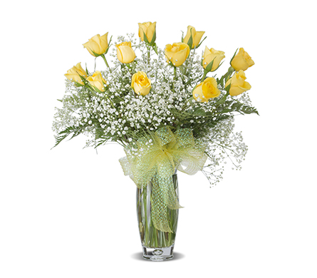 YELLOW DOZEN ROSE ARRANGED in Gainesville FL, Floral Expressions Florist