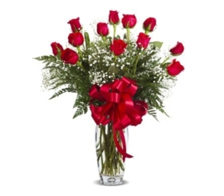 RED DOZEN ROSES ARRANGED in Gainesville FL, Floral Expressions Florist