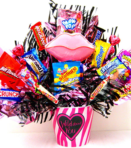 CB286 ''Wild About You'' Zebra Print Candy Bouquet in Oklahoma City OK, Array of Flowers & Gifts