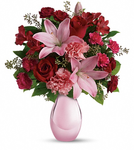 Teleflora's Roses and Pearls Bouquet in Hollywood FL, Al's Florist & Gifts