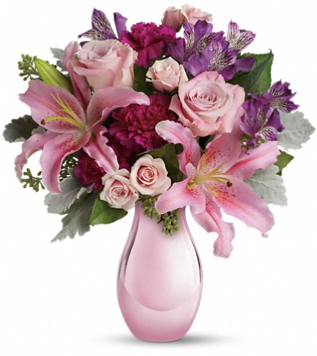 Enchanting Pinks by Teleflora in Abington MA, The Hutcheon's Flower Co, Inc.