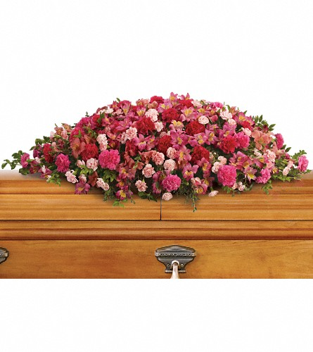 A Life Loved Casket Spray in Sydney NS, Lotherington's Flowers & Gifts