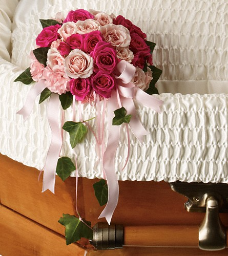 Rose Reflection Casket Insert in Fort Worth TX, TCU Florist