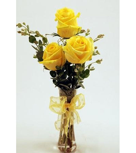 Get-Shorty-Yellow-Three in San Clemente CA, Beach City Florist