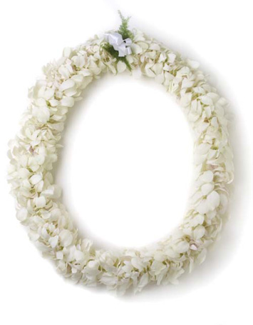 Double White Orchid Lei in Fremont CA, Kathy's Floral Design